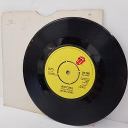 "THE ROLLING STONES, respectable, B side when the whip comes down, EMI 2861, 7"" single"