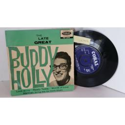 BUDDY HOLLY the late great buddy holly, 7 inch single, round centre, FEP 2044