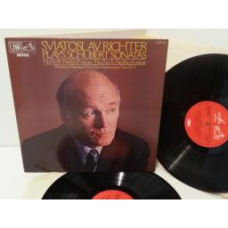 SVIATOSLAV RICHTER plays schubert sonatas, gatefold, double album, SLS 5289.