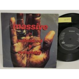 MASSIVE ATTACK unfinished symphony, PICTURE SLEEVE, 7 inch single, WBRS 2