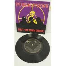 PUBLIC ENEMY shut 'em down (remix), 7 inch single, 657761 7