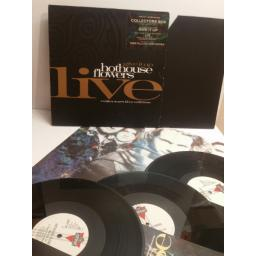 "HOT HOUSE FLOWERS strickly limited edition collectors live edition box, GIVE IT UP, 3 X 12"" singles PLUS POSTER Lonxp258"