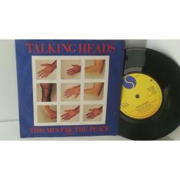 SOLD: TALKING HEADS this must be the place (naive melody), 7 inch single, W 9451