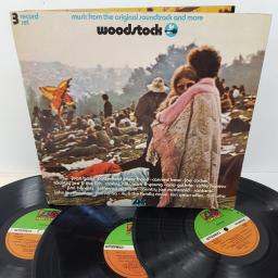 "WOODSTOCK - MUSIC FROM THE ORIGINAL SOUNDTRACK AND MORE, K 60001, 3x12"" LP"