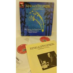 ELGAR, HANDLEY, VALERIE MASTERSON, DEREK HAMMOND STROUD, LONDON PHILHARMONIC ORCHESTRA the starlight express, booklet, 2 x lp, boxset, SLS 5036