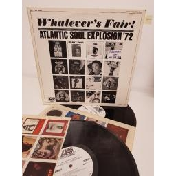 "WHATEVER'S FAIR! ATLANTIC SOUL EXPLOSION '72 , PR 170, 2x12"" LP, PROMO"