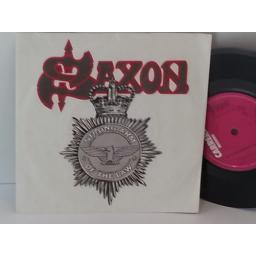 SAXON strong arm of the law, 7 inch single, CAR 170