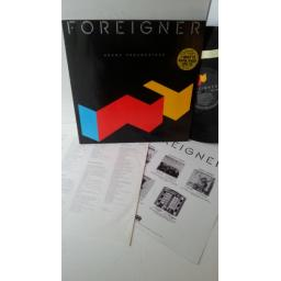 FOREIGNER agent provocateur, 781 999-1, advert insert, embossed sleeve