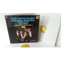STERN, ZUKERMAN, PERLMAN, MINTZ, ISRAEL PHILHARMONIC ORCHESTRA, MEHTA live recordings from the huberman festival israel, december 1982, gatefold, 2 x lp, 2741026
