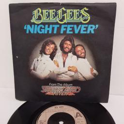 "BEE GEES, night fever, B side down the road, RSO 002, 7"" single"