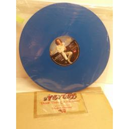 "ANDY GIBB don't throw it all away BLUE VINYL 12"" SINGLE RSOX26"