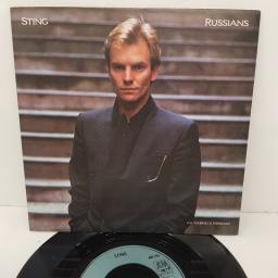 "STING, russians, B side gabriel's message, AM 292, 7"" single"