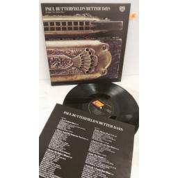 PAUL BUTTERFIELD better days, track list insert, NEXLP 127