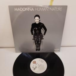 "MADONNA, human nature, 12"" EP (SIDE A human club mix, the runaway club mix, SIDE B master with nine sample, i',m not your bitch) WO300T"