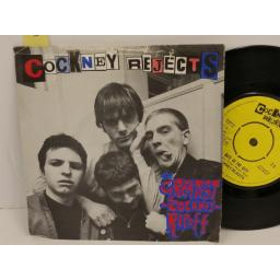 COCKNEY REJECTS the greatest cockney rip-off, PICTURE SLEEVE, 7 inch single, Z2