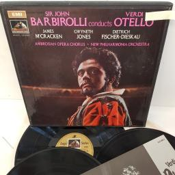 "Giuseppe Verdi, Sir John Barbirolli, James McCracken, Gwyneth Jones, Dietrich Fischer-Dieskau, The Ambrosian Opera Chorus, New Philharmonia Orchestra ‎– Otello, SLS 940/3, 3x12"" LP, box set"
