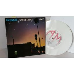 SQUEEZE christmas day, 7 inch single, white vinyl, AMS 7495