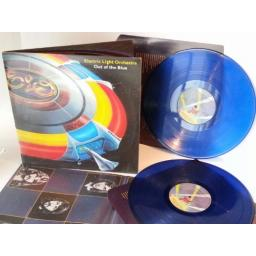 Blue vinyl. ELECTRIC LIGHT ORCHESTRA out of the blue.