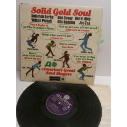 SOLID GOLD SOUL America's great soul singers SOLOMON BURKE, DON COVAY, BEN E KING, JOE TEX, WILSON PICKETT, OTIS REDDING ATL5048 MONO