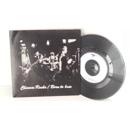 OUT OF STOCK THE HEARTBREAKERS chinese rocks, born to lose, 7 inch single, 2094 135