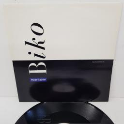 "PETER GABRIEL, biko, B side no more apartheid, PGS 612, 12"" single"
