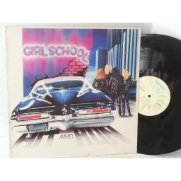 GIRLSCHOOL hit and run BLACK VINYL