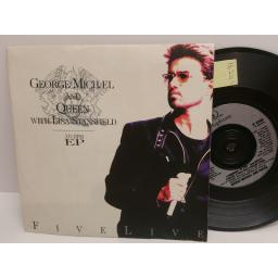 GEORGE MICHAEL AND QUEEN with LISA STANSFIELD five live 33 1/3 rpm EP uk 7 inch PICTURE SLEEVE r6340