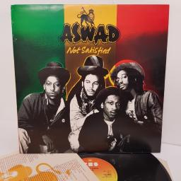 "ASWAD, not satisfied, CBS 85666, 12"" LP"