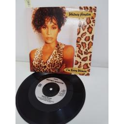 "WHITNEY HOUSTON, I'm every woman, B side who do you love, LC 3484, 7"" single"