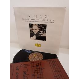 "STING, songs from the labyrinth, 00289 476 5722, 12"" LP"