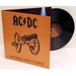 AC/DC for those about to Rock. first Uk press 1981, embossed sleeve. on the A...