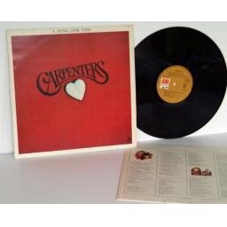 CARPENTERS a song for you. TOP COPY. First UK press 1972. Matrix A-1, B-1. Bu...