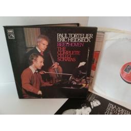 SOLD BEETHOVEN, PAUL TORTELIER, ERIC HEIDSIECK the complete cello sonatas, boxset, 2 records, SLS 836, libretto