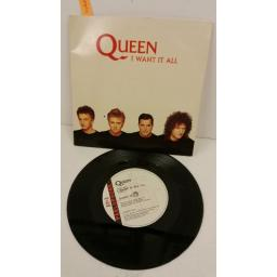 QUEEN i want it all, 7 inch single, QUEEN 10.