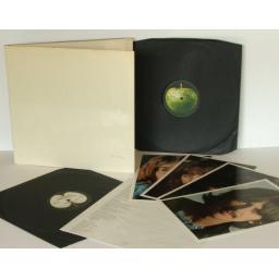 SOLD : THE BEATLES, PMC 7076. MONO. White Album Embossed No.0238454