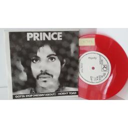 PRINCE gotta stop (messin' about) / horny toad, 7 inch single, red vinyl, SDC 43