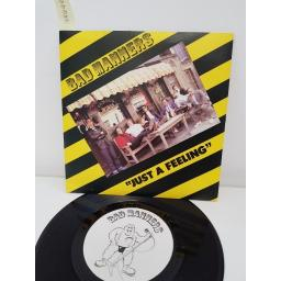 BAD MANNERS, just a feeling , side b suicide, MAG 187, 7'' single