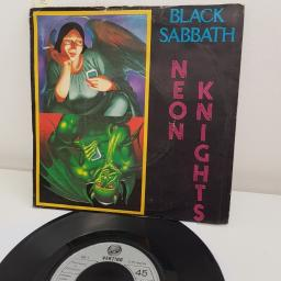 "BLACK SABBATH, neon knights, B side children of the sea live , SAB 3, 7"" single"