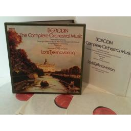 BORODIN, LORIS TJEKNAVORIAN complete orchestral music, RL 25098, booklet, 3 record set
