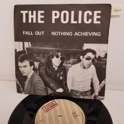 "THE POLICE, fall out, B side nothing achieving, IL 001, 7"" single"