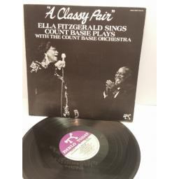 "ELLA FITZGERALD SINGS COUNT BASIE PLAYS WITH THE COUNT BASIE ORCHESTRA ""A CLASSY PAIR"" 2312-132"