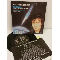 JULIAN LENNON because, 7 inch single, EMI 5538