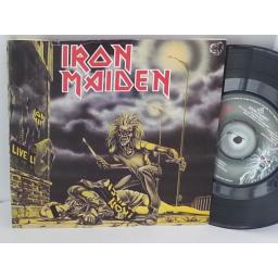 SOLD IRON MAIDEN sanctuary, censored Margaret Thatcher cover, 7 inch single, EMI 5065, censored margaret thatcher cover
