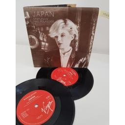 JAPAN, double 7'' singles, 1 side A gentlemen take polaroids, side B the experience of swimming, 2 side C the widith of a room, side D burning bridges, VS 379, 7'' EP