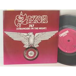 SAXON 747 strangers in the night, CAR 151, 7 inch single