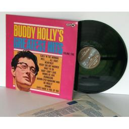 SOLD BUDDY HOLLY greatest hits Vol two STEREO. On brown and blue label. Stereo/mon...