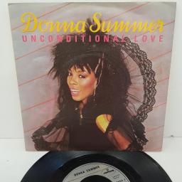 "DONNA SUMMER, unconditional love, B side woman, DONNA 2, 7"" single"