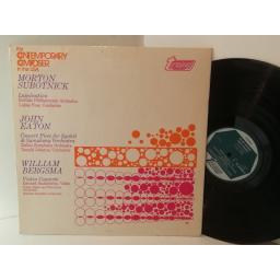 MORTON SUBOTNICK, JOHN EATON, WILLIAM BERGSMA lamination / concert piece for synket and symphony orchestra / violin concerto, TV34428S