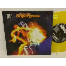 SUPERGRASS richard iii, PICTURE SLEEVE, 7 inch single, limited edition yellow vinyl, R 6461