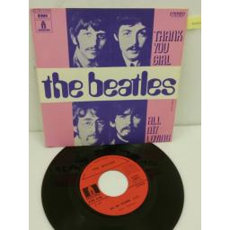 THE BEATLES thank you girl / all my loving, 7 inch single, 2C 006 04465